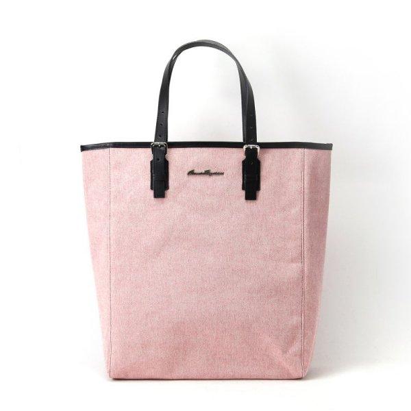 トートバッグ 縦型 メンズ コットン 人気大きめおすすめ a4 ピンク
